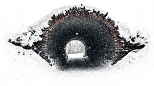 Preview wallpaper tunnel, snow, minimalism, white