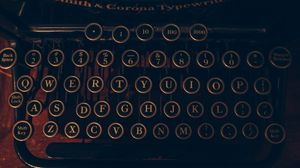 Preview wallpaper typewriter, letters, numbers