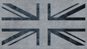 Preview wallpaper union jack, united kingdom, flag, texture, pencil, background, surface