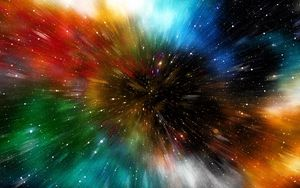 Preview wallpaper universe, galaxy, multicolored, immersion
