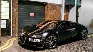 Preview wallpaper veyron, matte, bugatti, supercar