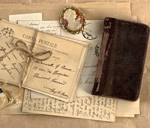 Preview wallpaper vintage, notebook, locket, perfume, writing, retro