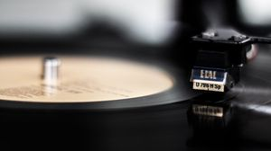 Preview wallpaper vinyl, vinyl player, bw, cartridge, tonearm, needle