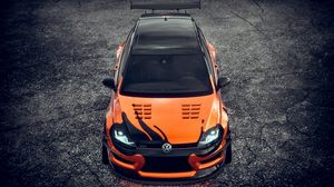 Preview wallpaper volkswagen, sports car, car, tuning, front view