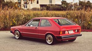 Preview wallpaper volkswagen, vw, scirocco, mk1, 1975, red, rear view