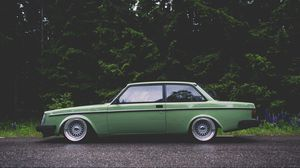 Preview wallpaper volvo, volvo 242, green, side view