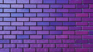 Preview wallpaper wall, brick, purple, texture