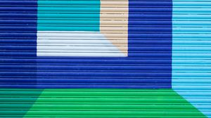 Preview wallpaper wall, paint, colorful, geometric, abstraction, modern art