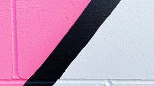 Preview wallpaper lines, paint, wall, pink, white, black