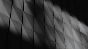 Preview wallpaper wall, panels, shadow, bw, dark