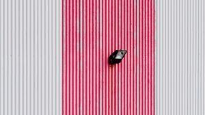 Preview wallpaper wall, spotlights, minimalism, stripes, lines