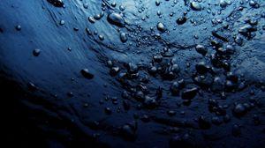Preview wallpaper water, drops, dark