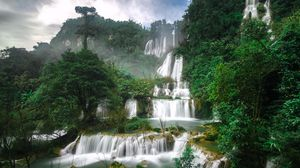 Preview wallpaper waterfall, tee lo su, thailand, cascade