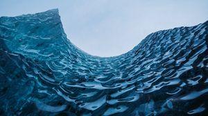 Preview wallpaper waves, frozen, glacier, ice