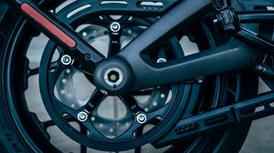 Preview wallpaper wheel, motorcycle, bike, black, side view