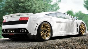 Preview wallpaper white, lamborghini, style, wheels