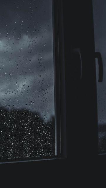 360x640 Wallpaper window, drops, rain, blur