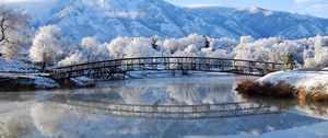 Preview wallpaper winter, bridge, landscape