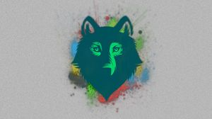 Preview wallpaper wolf, face, drawing, spot