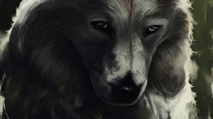 Preview wallpaper wolf, glance, art, predator, beast