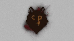 Preview wallpaper wolf, muzzle, spots, background